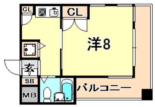 トラスト兵庫3【兵庫駅近!広々8帖♪ 独立部屋】写真15
