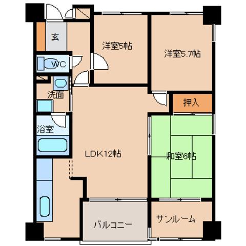 アパマートマンスリー富山駅南 八人町 WiFi無料 3LDK写真7