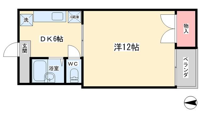 アパマートマンスリー富山インター 黒崎 1DK写真5