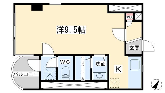 アパマートマンスリー高岡駅北 木舟町 1R写真6