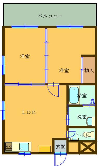 小波本マンションⅡ(2LDK)写真16
